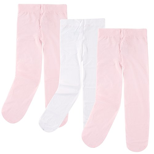 3-Pack Tights for Baby, Pink-White, 18-24 months