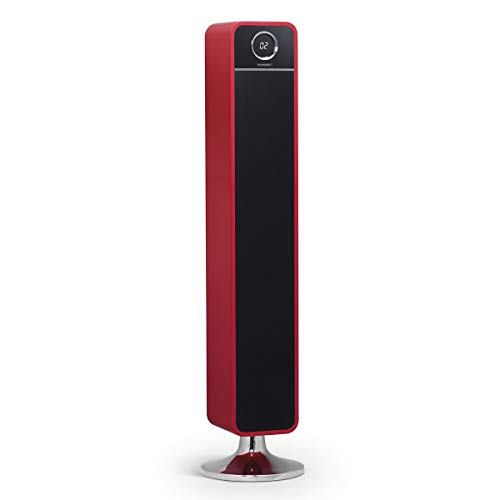 Tour de Son 120W Feeling 's Tower HD Rouge · Système de Son 2.1· Puissance Totale: 120W · Bluetooth 2.1hasta10m · entrée auxiliaire de 3,5mm · USB Compatible avec MP3· Lecteur de Cartes SDHC