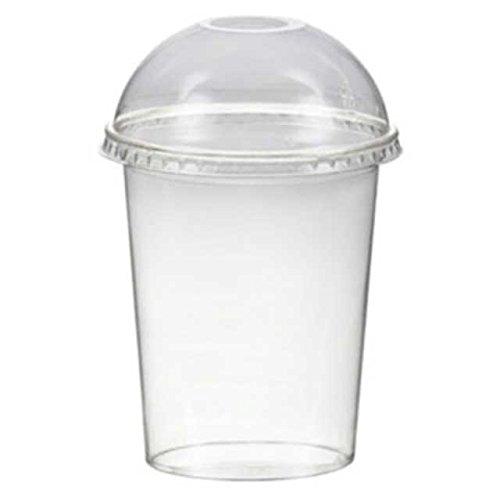 50 Stk. Smoothiesbecher + Domdeckel mit Öffnung 300 ml, Ø 95mm, PET, glasklar / PET Becher sind glasklare und bruchfeste Becher für Getränke, Desserts, Smoothies etc . Im Vergleich zu herkömmlichen Bechern sind PET-Becher deutlich stärker und robuster. Inkl. Domdeckel mit Öffnung.