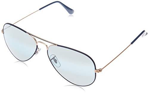 Ray-Ban Herren RB3025-9156AJ-58 Sonnenbrille, Blau (Azul/Cobre), 58