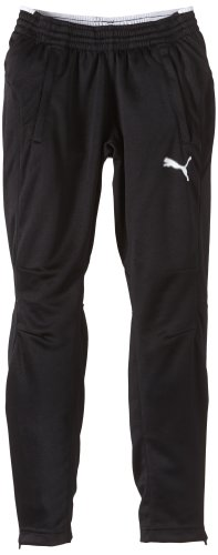 PUMA Kinder Hose Training Pants Trainingshose, Black/White, 128