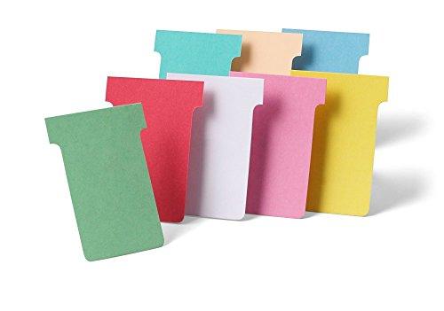 Nobo T-Karten Tabs oben 15 mm unten 124 x 112 x 180 mm Größe 4 100 Stück weiß