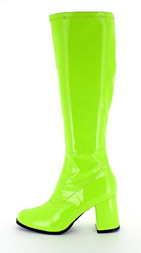 Die Beste Das Kostümland Gogo Damen Retro Lackstiefel - Grün Gr. 39 ... 20ff292c82