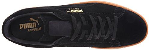Puma Suede Winter Gum Herren Leder Turnschuhe Black-Team Gold