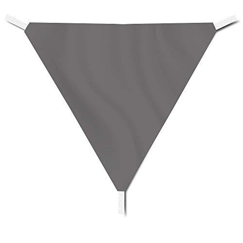 Dreieck-Sonnensegel Sonnenschutz für Außenbereich Schutz vor UV-Strahlung inklusive Seile zur...