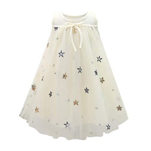 VJGOAL Mädchen Kleider, Kinder Baby Sommer Süß Gypsophila Mesh Ärmellos Urlaub Strand Prinzessin Rock Dresses for Girl ()