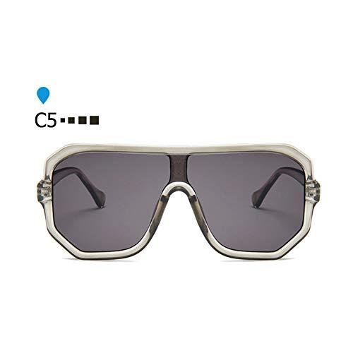 ZHENCHENYZ Vintage Shades für Frauen Visier Sonnenbrille Männer Übergroße futuristische Markendesigner Pilot Sonnenbrille
