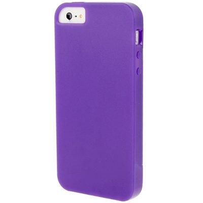 Wkae Case Cover Transparente Flip-TPU für iPhone 5 &5s &SE &SE ( Color : Dark Grey ) Purple