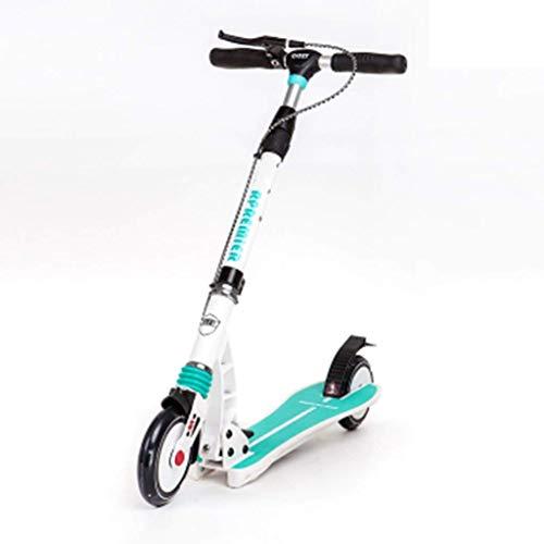 SCOOTERYW Roller Zweirad Folding Car Disc Handbremse + Fußbremse Blau