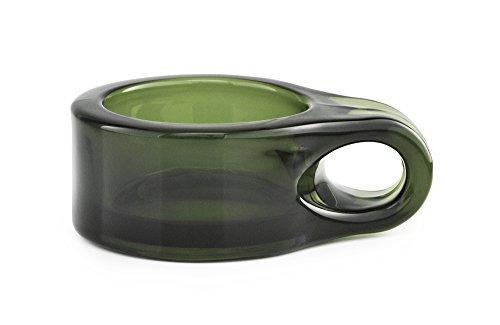 Normann Copenhagen Teelichthalter, Glas, Dunkel Grün, 9 x 7 x 3 cm