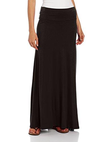 AGB Damen Maxirock aus weichem Strick, für Petite und Standardgrößen - Schwarz - Klein Petite Spandex Jersey