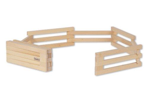 - El juego incluye 11 piezas de valla de madera