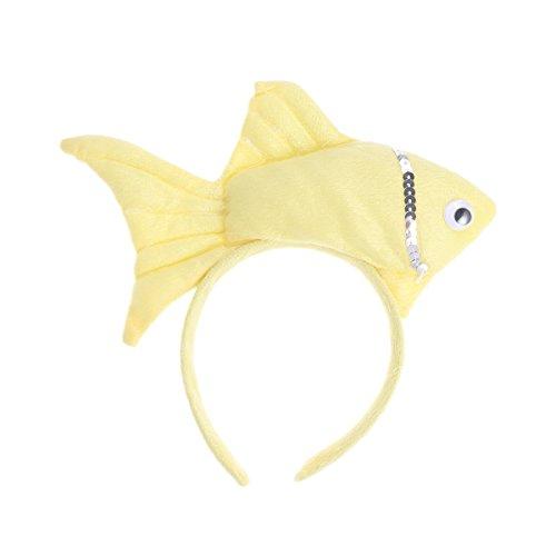 Kostüm Tier Kopfbedeckung - Amosfun Goldfisch Headdband Cute Cartoon stereoskopische Tier Headdband für Geburtstag Halloween Kostüme
