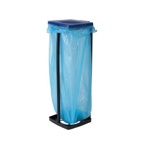 *Top Star Müllsackständer mit Deckel – Müllsackhalter bis 120 Liter – Abfallbehälter für die Küche, Garage oder Keller – Müllbeutelhalter 3-fach höhenverstellbar – Gelber-Sack Ständer stabil*