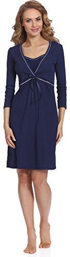 Italian Fashion Chemise de Nuit pour la Maternité Dolores 01111 Bleu Sombre