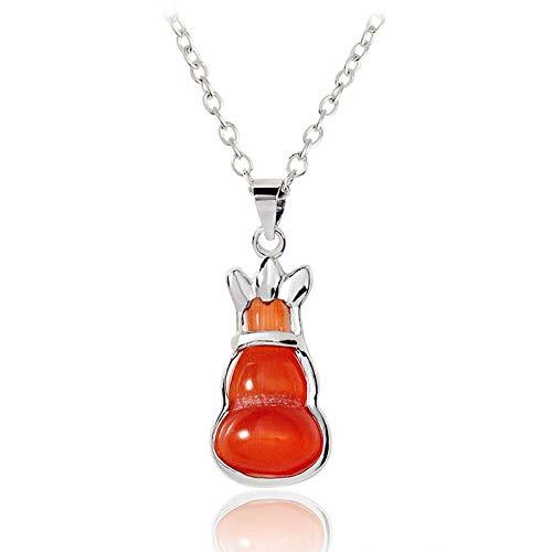 chkeit Opal Halskette Legierung zubehör kristall kürbis anhänger, rot ()
