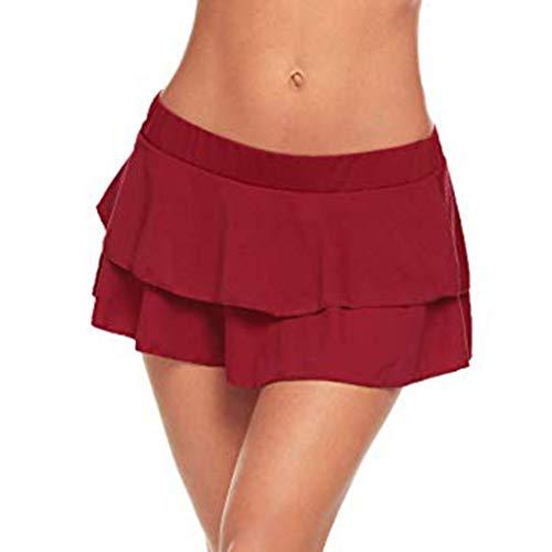 Berimaterry Damen Minirock Kurz Skirt Mini Röcke Sexy Dessous Einfarbige Faltenrock Tanz Rock Nachtwäsche Reizvolle Club Party Abendrock Sommerrock