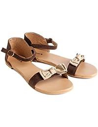 NSTRANDZONE Women's Casual Flats Slingback Strap Sandal