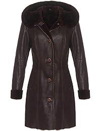 Manteau en Peau de Mouton - Jasmina Femmes Mérinos Manteau de Fourrure  Manteau d hiver 8b6c96a1c90d