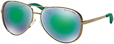 Michael Kors Chelsea MK5004 Gafas de sol, Gold 10043R, 59 Unisex-Adulto