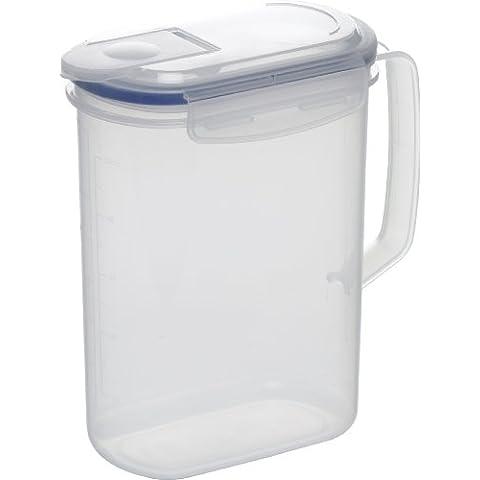 Emsa 506773 Clip & Close - Jarra hermética graduada para frigorífico (1,5 litros), transparente