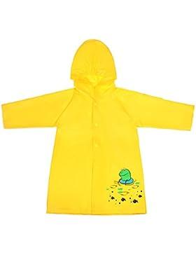 [Sponsorizzato]Lorata PVA Poncho Impermeabile da Bambini Mantella Antipioggia Cartoon con Bottone per Ragazzi Ragazze