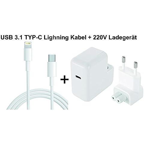 3P24COMPENDUS® 220V Adattatore EU 14,5V 2A USB 3.1Type-C 29W attacco
