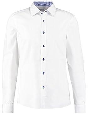 Pier One Herren Hemd Slim Fit in Weiß, Navy Blau o. Schwarz - Businesshemd Langarm bügelfrei - Oberhemden elegant...
