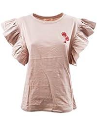 29b91ae7176c Kontatto - T-Shirt Palma M Rouges Donna - Pink