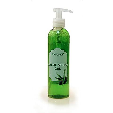 Aloe Vera Gel con dosificadoras–Tratamiento Natural para la piel Después de sol, sugarme, Afeita etc.