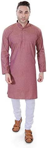 Luckwin Men's Cotton Linen Kurta Py
