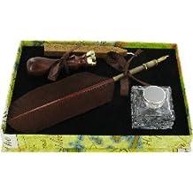 Chichi Gifts CAL8 - Set de caligrafía en caja regalo (con pluma, bote de tinta, cera y sello)