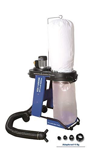 *Zipper Absauganlage ASA1600HM mit Schlauch, Filtersack, Spänesack, Adapterset-4tlg*