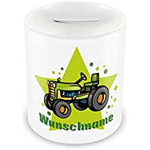 Spardose Traktor Mit Namen Fur Kinder Geschenk Zur Einschulung