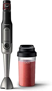 Philips Stabmixer Viva HR2650/90 (800W, SpeedTouch, inkl. 2-in-1 ToGo Trinkflasche & Mixbec