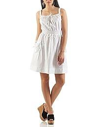 AO Retro Hippie Kleid Knielang mit Taschen