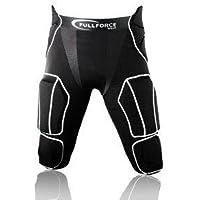 Full Force American Football–Pantalones para Hombre 7Pocket con 7eingenähten Pads, Negro, Tallas S–3x l, Color Negro, tamaño Large