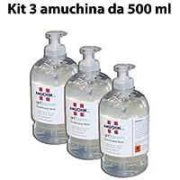 CubeX Professional amuchina Gel de limpieza manos, 500ML desinfectante, unidades