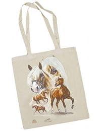 Baumwoll Tasche Stofftasche Haflinger Collection Boetzel Pferde 08875