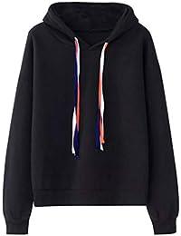 a36310b1461d Longra Damen Oversize Hoodie Schwarz Pullover Herbst Winter Kapuzenpullover  Frauen Sweatshirt Jacke Sweatjacke Hoodie Sweatshirt Oberteil