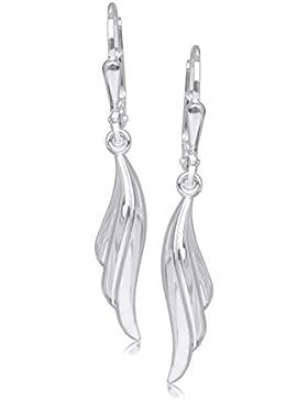 MyGold Damen-Ohrhänger Ohrringe Sterlingsilber 925 Silber 33mm x 5mm mit hängenden geschwungenen Flügel Ohrschmuck...