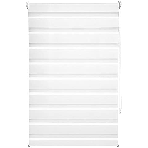 TecTake® Estor enrollable translúcido - blanco - 80 x 150 cm
