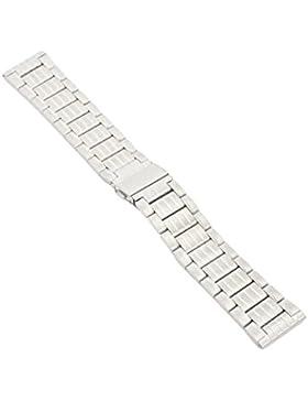 20-22mm Metallband Uhrenarmband Edelstahl Satiniert-Poliert Armband Uhr Band 4 20mm