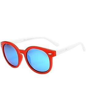 BOZEVON Moda Gafas de Sol para Unisexo Niños Niñas Flexible Rubber Polarizadas Gafas