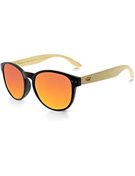 Gafas de madera MOSCA NEGRA modelo MIX OMEGA Solid Black Polarized - Wood Sunglasses
