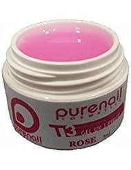 Gel UV monophase 3 en 1 EPAIS modelage faux ongles FACILE , 5 ml base construction Pink rose- TOP PROMO