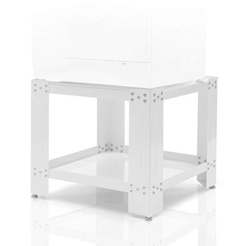 *Xavax Waschmaschinen Untergestell 60 x 60cm (50cm Erhöhung, stabiler Unterbau-Sockel mit Bodenfach, höhenverstellbare Füße, Waschmaschinen-/Trockner-Podest) weiß*