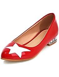 Dulce cinco puntas estrellas zapatos ligeros/ sharp zapatos con diamantes de imitación de entonado de colores
