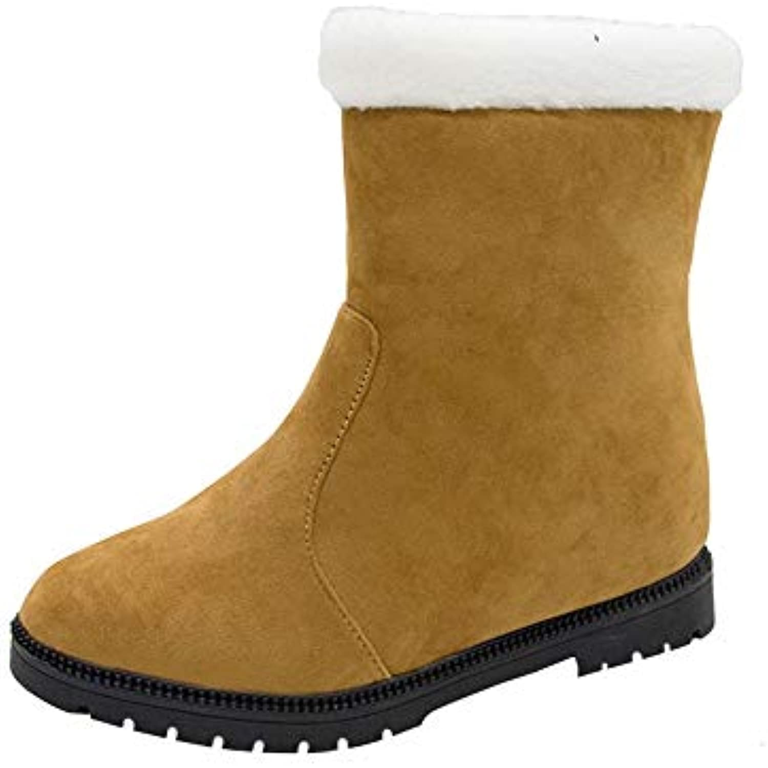 Bottes Femmes Chaussures Hiver,GongzhuMM Chaussures Femmes Femme Hiver Pas  Cher Bottes de Neige Plates. « 49df8705cbe8