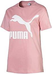 PUMA Women's Classics Logo Tee Bridal Rose, (Pink 14), Me